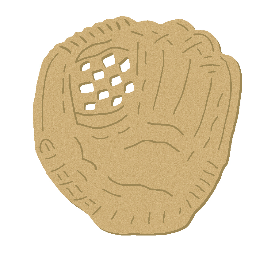 baseball glove cork board